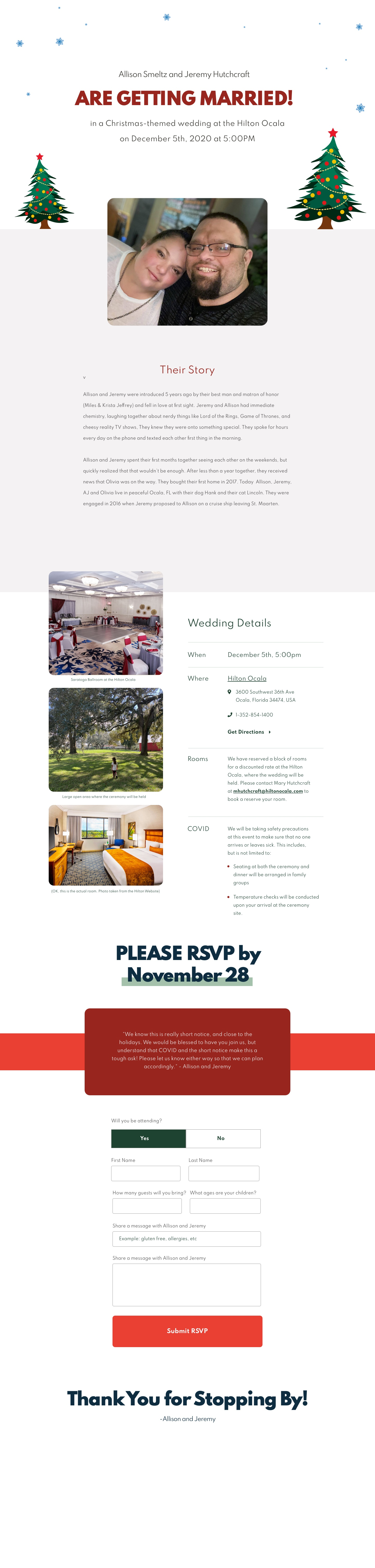 high res image of the our wedding website