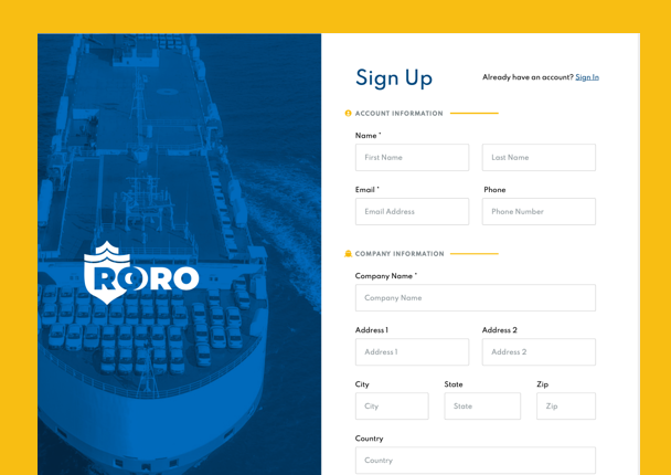 A thumbnail showing the new design for RORO.com